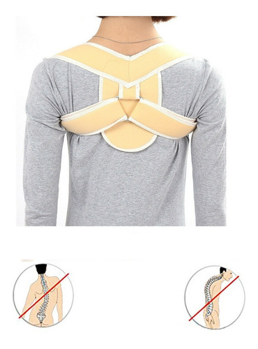 corrector de postura espalda derecha ajustable comodo unisex