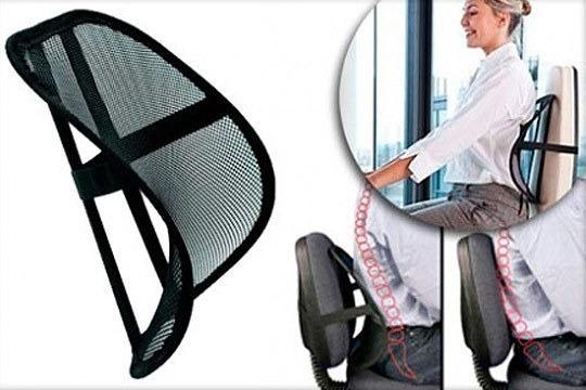 Corrector de postura lumbar dolor espalda carro oficina for Sillas de oficina para problemas de espalda