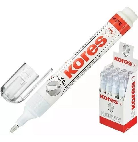 corrector líquido tipo lápiz kores metaltip caja 1 unidades