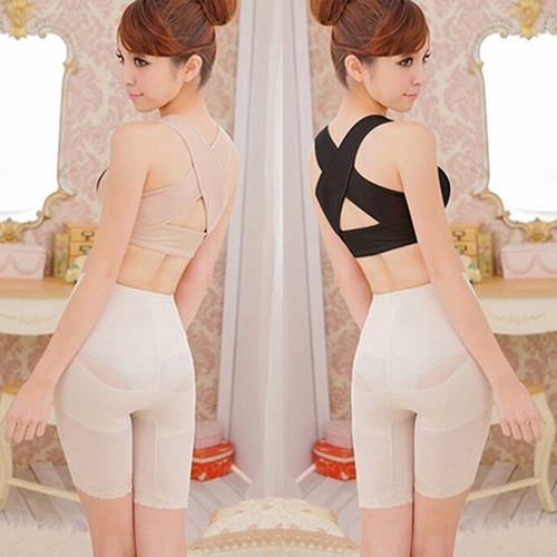 corrector postura  negro para mujer ajuste perfecto w01