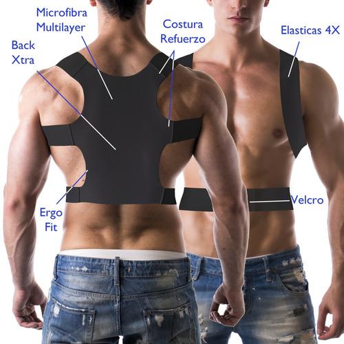 corrector postura premium italiano talla l - xl negro pura+