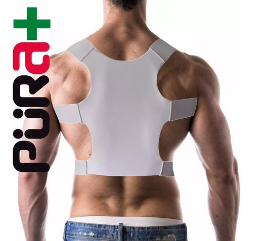 corrector postura premium italiano talla s m blanco pura+