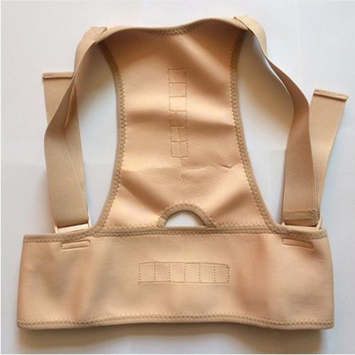 corrector postura unisex ajustable 12 imanes soporte espalda