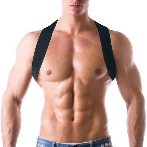corrector postura unisex profesional talla l- xl negro nrgy