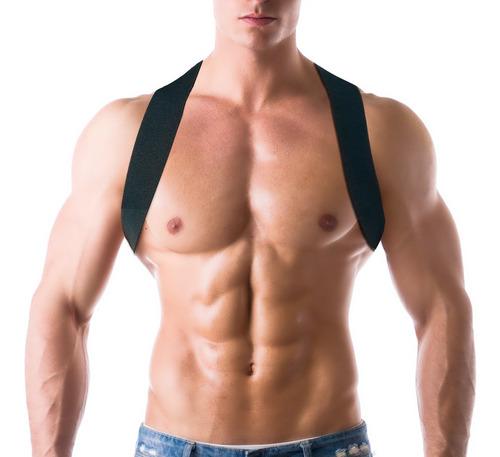 corrector postura unisex profesional talla s m blanco nrgy