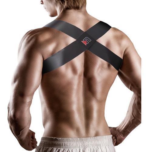 corrector postura unisex profesional talla s- m negro nrgy