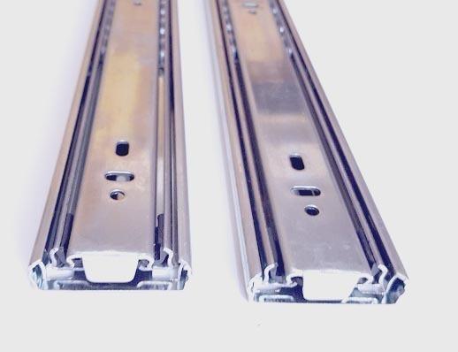 Gu/ía de rodamiento met/álica para cajones de extensi/ón completa 250 mm 1 par