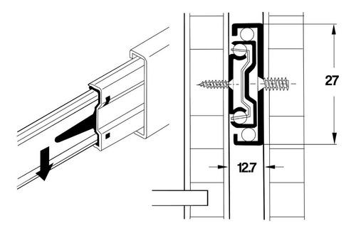 corredera telescópica mini 350 mm 35 cm casa zinc mundo cima