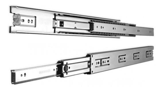 1 par de gu/ías telesc/ópicas para cajones 35 mm