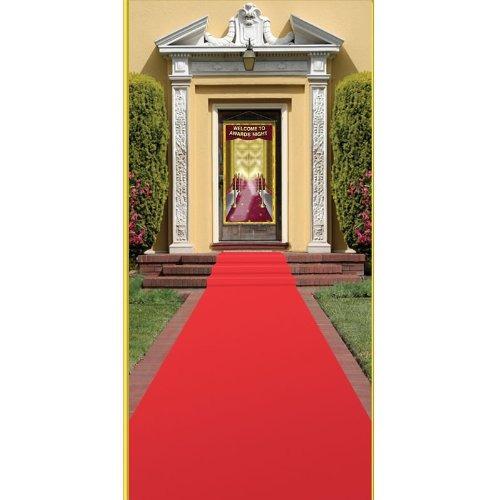 corredores,beistle 50087 red carpet runner, de 24 pulgad..