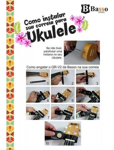 correia basso para ukulele uk 04 poliester com apoio akahai