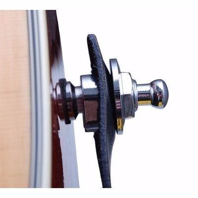 correia p. couro ibox csp guitarra violão baixo + strap lock