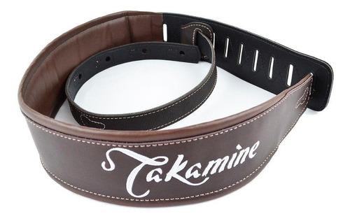 correia takamine original p/ violão luxo confortável marron