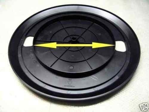 correia toca disco vinil 25.5 cm prato 16 a 17.5 cm diametro