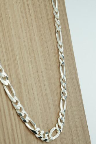 corrente 3x1 flat 8 mm x 60 cm (l35,2) prata 925