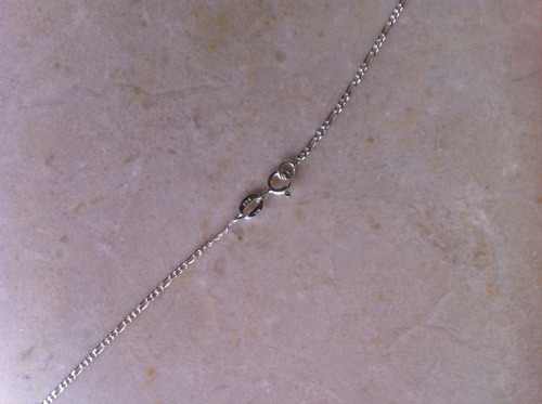corrente 60 cm 3x1 fina prata 925 legítima