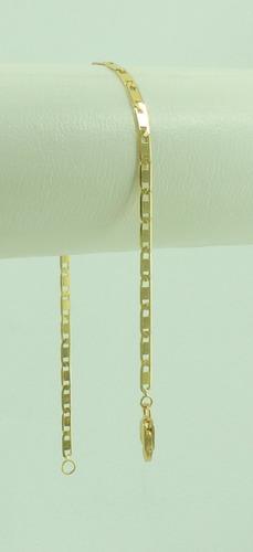 corrente 70 cm e pulseira 18 cm piastrine 3,8 ouro 18k 750
