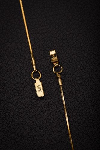corrente aço + pingente cravejado ogrife j-543 banhado ouro