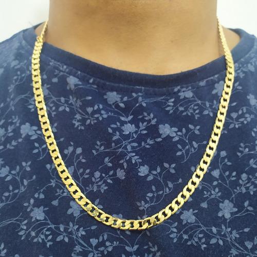 corrente banhada 60 cm grumet banhado a ouro 12x s/ juros