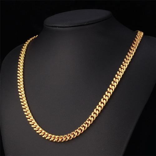 corrente banhada a ouro 18k 66cm x 0,7mm frete grátis
