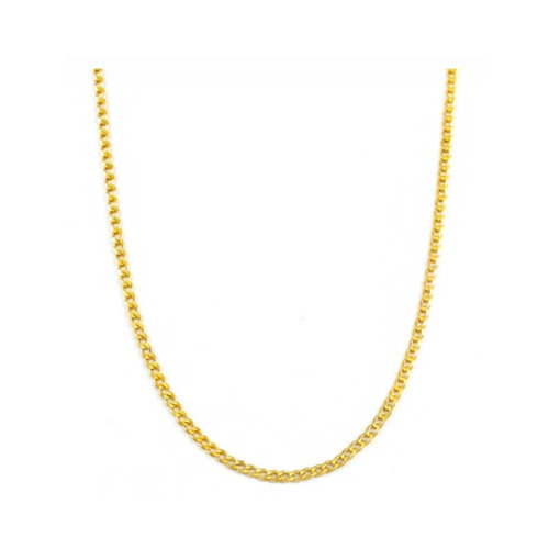 corrente banhada a ouro grumet 60 cm qmaximo com garantia promoção so hoje 70%off
