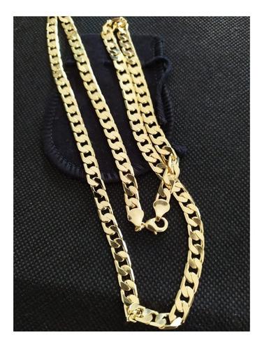 corrente banhada ouro masculina grumet qmaximo com nota fisc