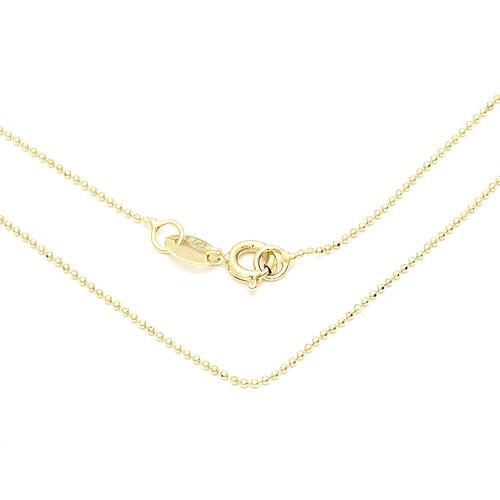 corrente bolinha diamantada infantil 35cm - 0302359