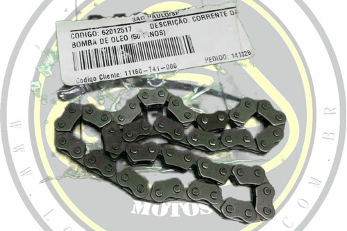 corrente bomba óleo dafra cityclass 200 original 11160-t41