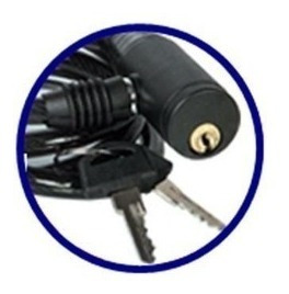 corrente cadeado para bicicleta com chave preto- atrio bi011