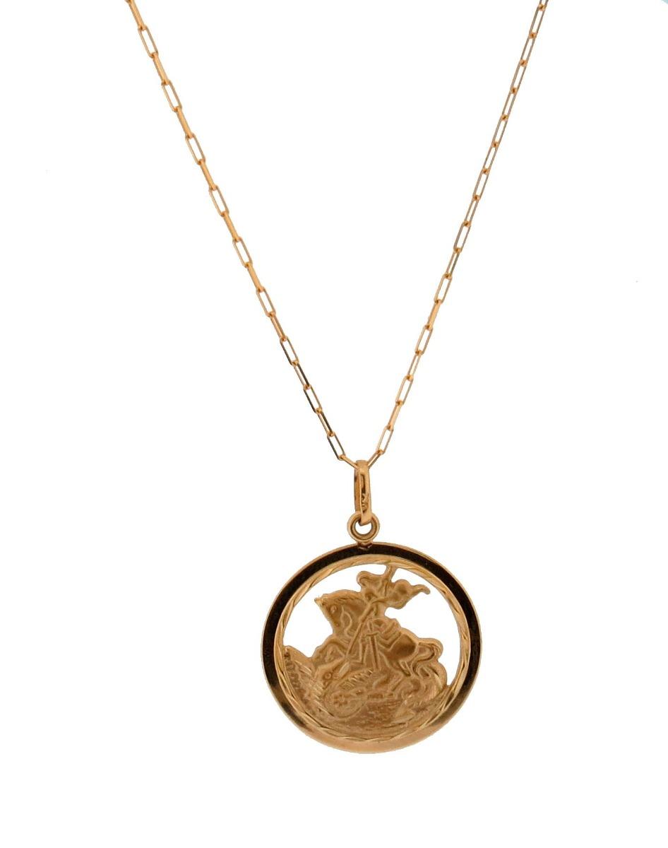 8a4f1b263b2 Corrente Cartier 60cm + Pingente São Jorge - Ouro 18k Jóias-