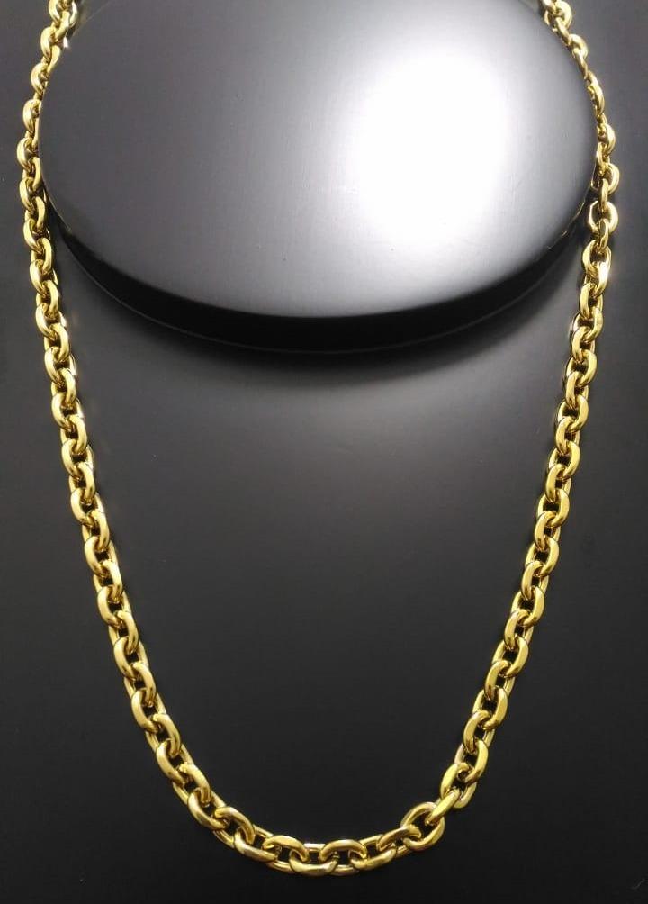 0fd183751bc Corrente Cartier Cadeado 60cm 6mm Banhada A Ouro 18k - R  80