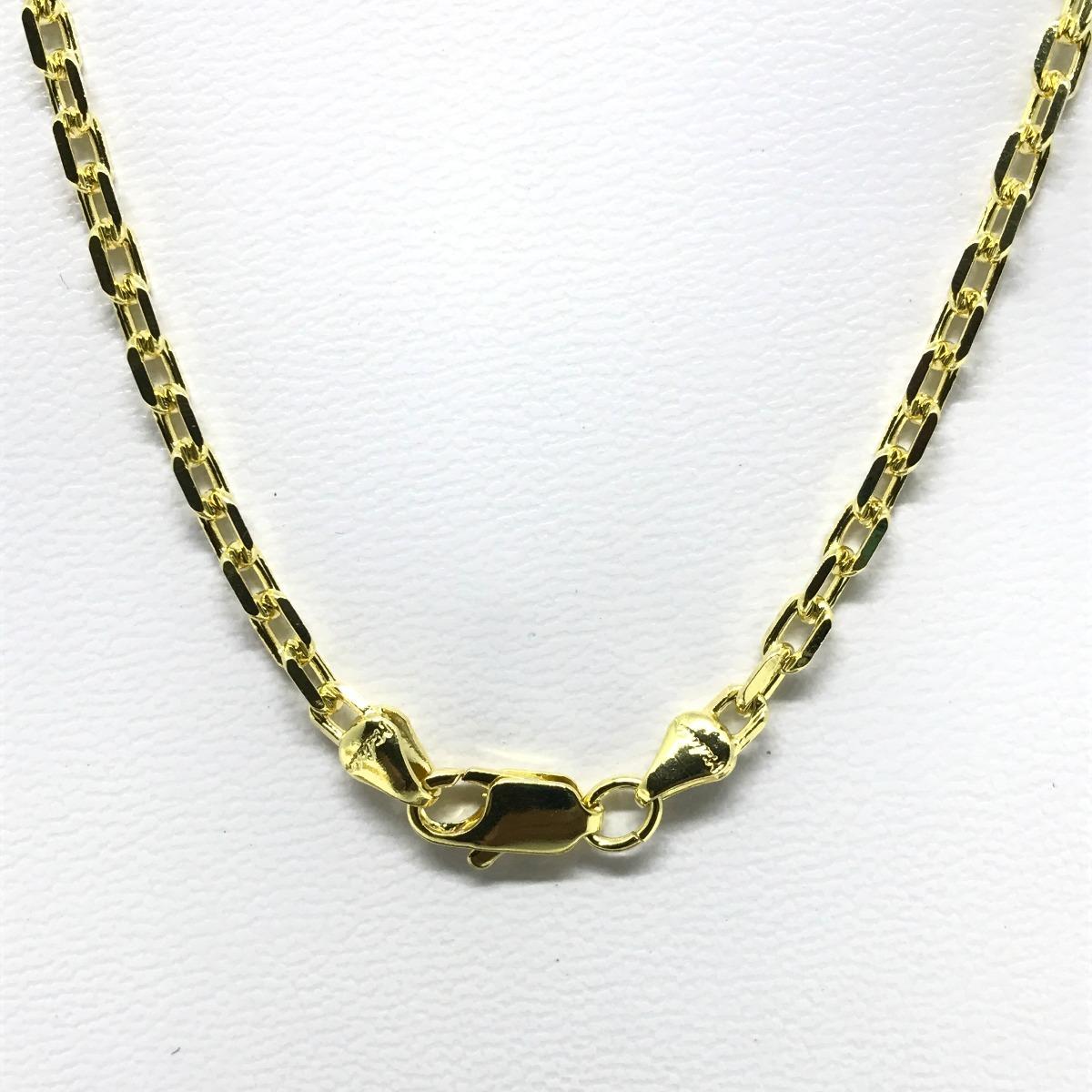 e54fb4239d3 corrente cartier cordão cadeado 4mm 80cm folheado a ouro 18k. Carregando  zoom.