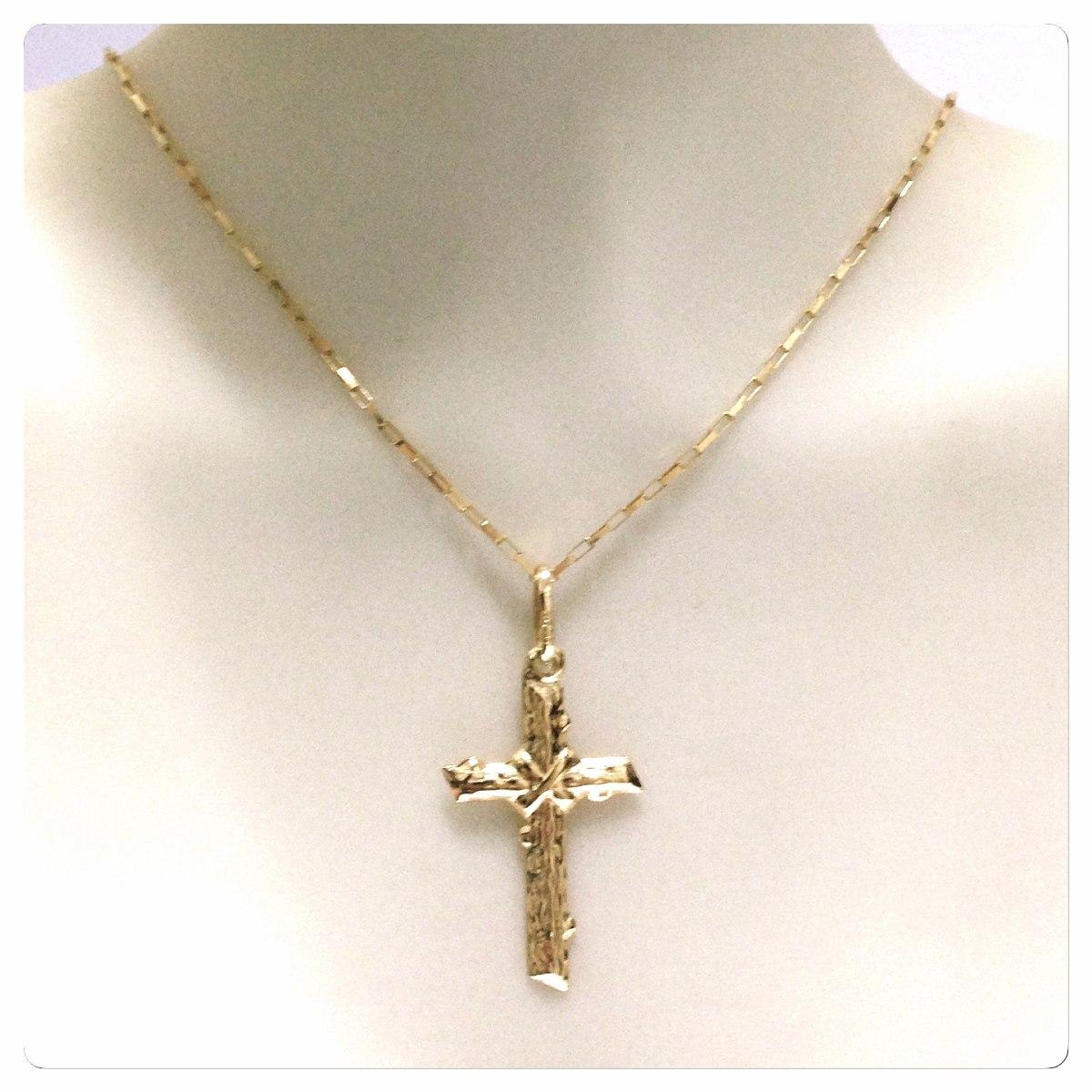 3b147ad3f17 Corrente Cartier De 60cm Pingente Crucifixo Ouro 18k Maciço