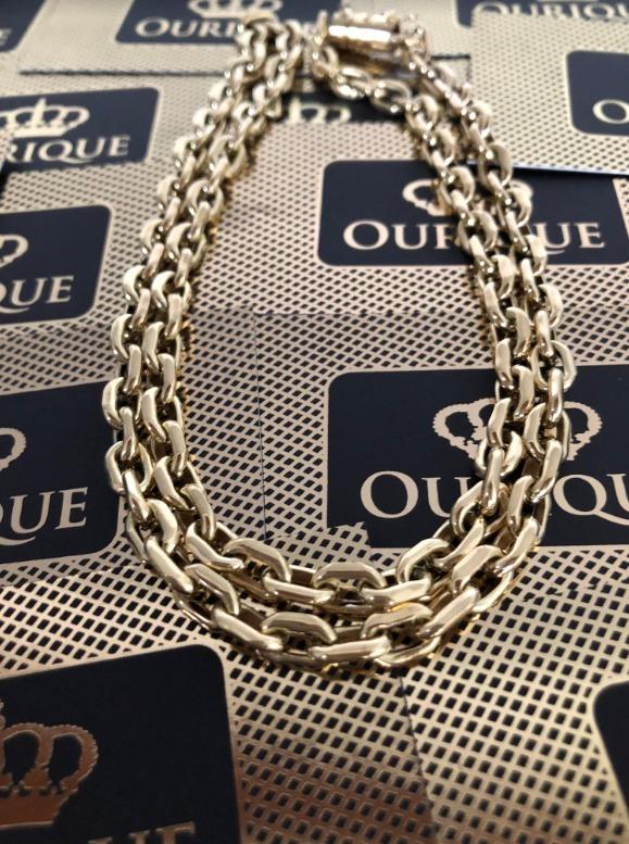 49584b6cac2 Corrente Cartier Ouro 18k 750 Promoção Grossa - R  5.189