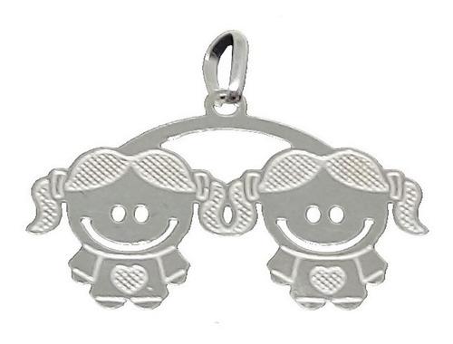 corrente colar 2 filhos prata 925 feminino 45cm oferta!