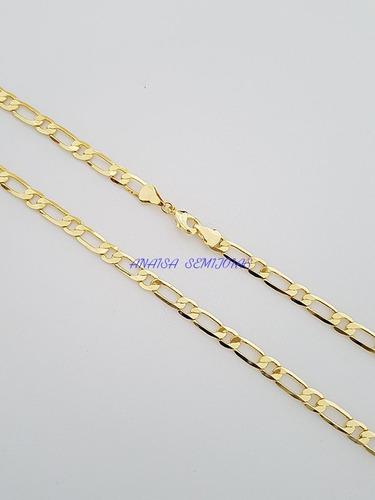 corrente colar cordão bolonha masculino banhado ouro 18k