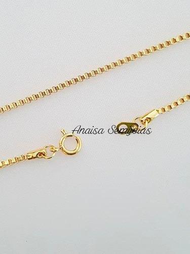 corrente colar cordão campobasso masculino banhado ouro 18k
