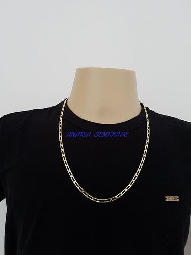 corrente colar cordão catanzaro masculino banhado ouro 18k