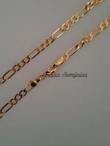 corrente colar cordão cusio masculino banhado ouro 18k