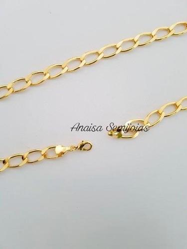 corrente colar cordão pesaro masculino banhado ouro 18k