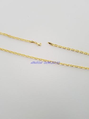 corrente colar cordão rimini masculino banhado ouro 18k