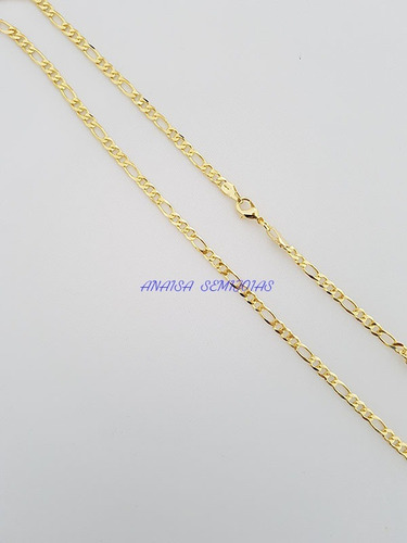 corrente colar cordão salerno masculino banhado ouro 18k