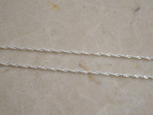 corrente colar  cordão singapura   50 cm  prata 925