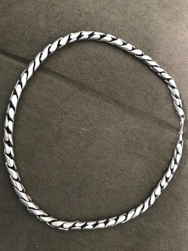 corrente colar de prata indiana linda grossa