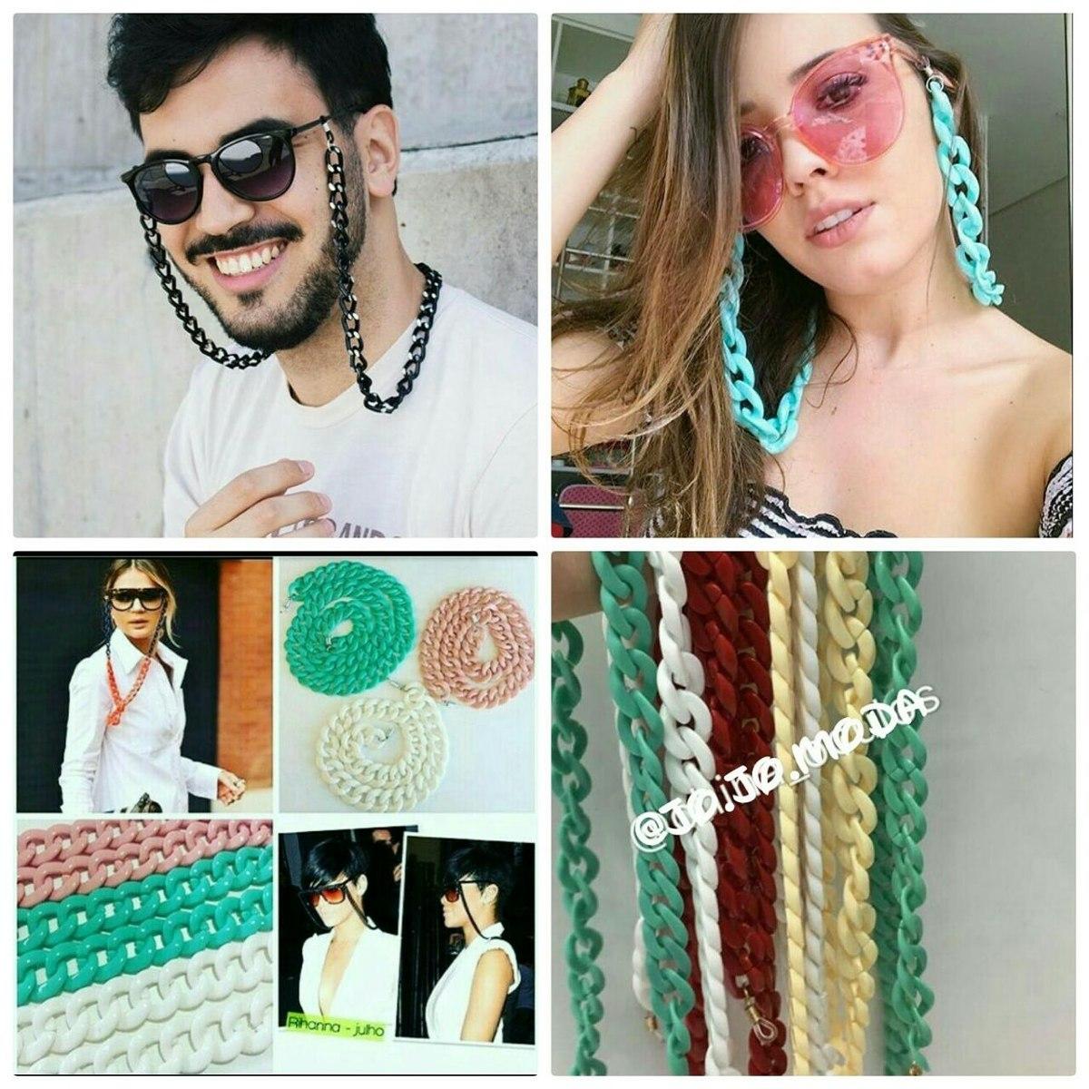 bab79d456 Corrente De Óculos Colar Eló Óculos Lançamento Blogueira - R$ 20,00 ...