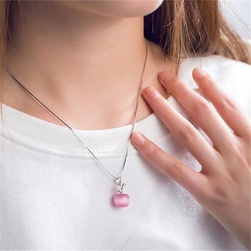 corrente colar  feminina prata 925 com pingente gargantilha