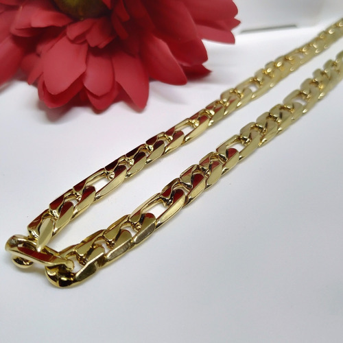 corrente colar masculino de aço banhado inox premium