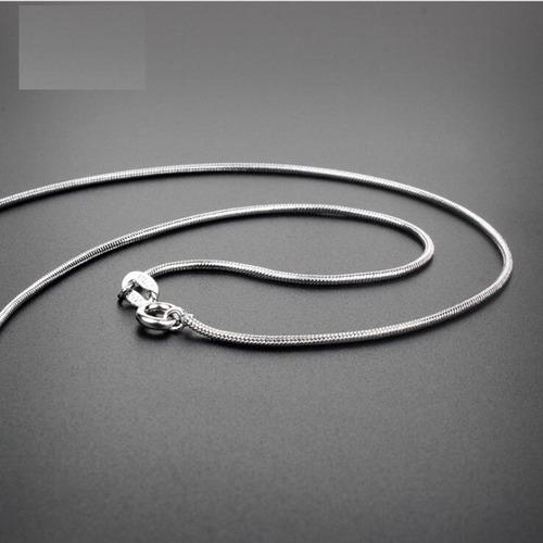 corrente colar prata maciça 925 rabo rato grossa 60 cm