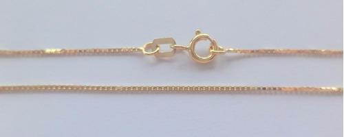 corrente colar veneziana 60cm em ouro 18k frete-grátis