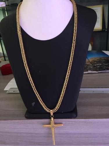 corrente com pingente em ouro 18k-750